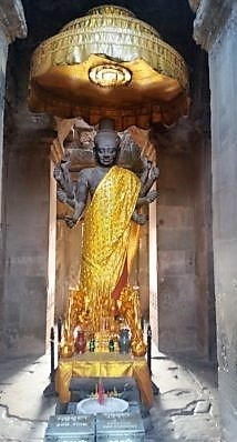 Angkor Wat, Cambodia, culture, travel, statues, gilded,