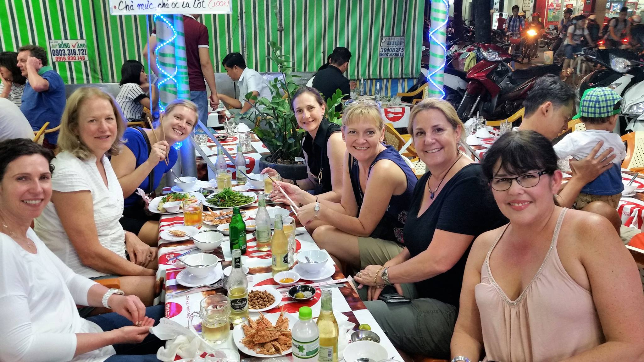 Saigon, night food tour, Vespa